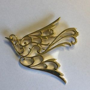 Vintage Goldtone Bird Brooch